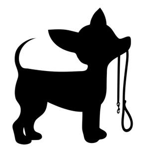 Dog silhouette clip art. Bath clipart chihuahua