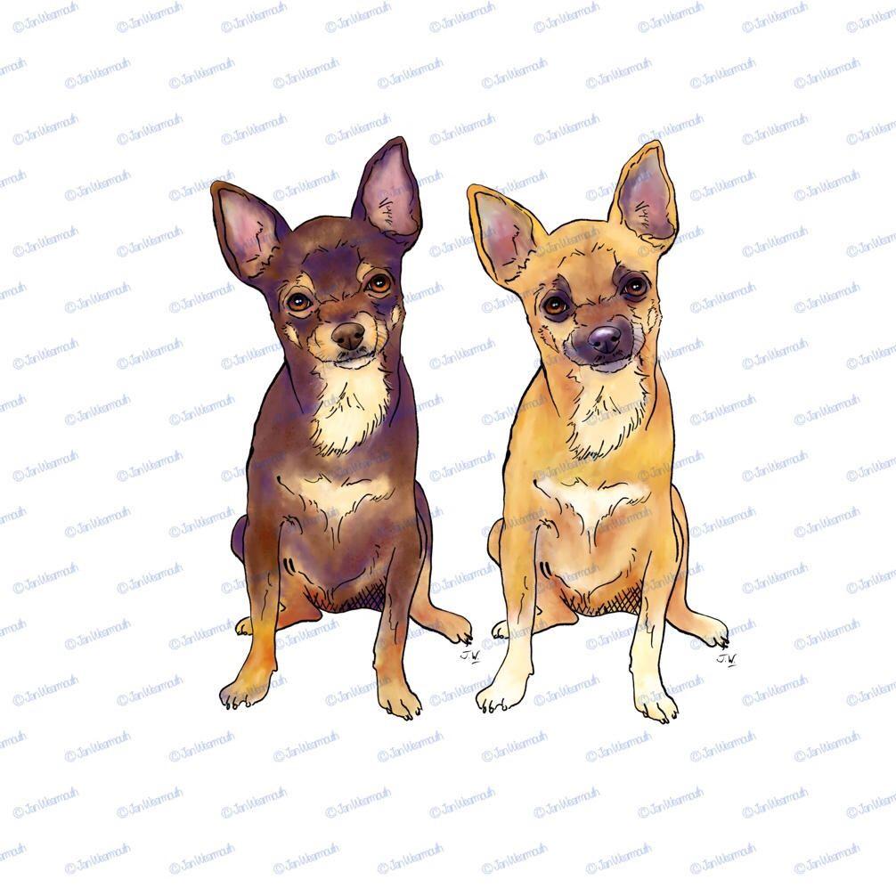 Art painting dog clip. Beagle clipart chihuahua