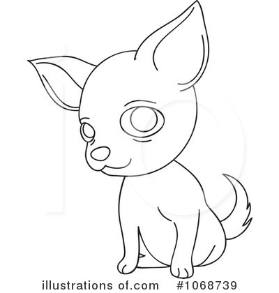 Chihuahua clipart cartoon. Draw a pencil and