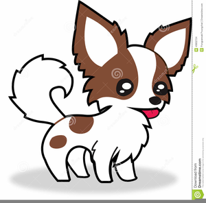 Long haired free images. Chihuahua clipart cartoon