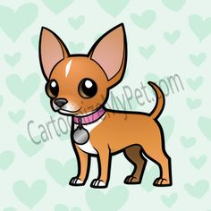 Chihuahua clipart cartoon. Pin by jennifer holmes