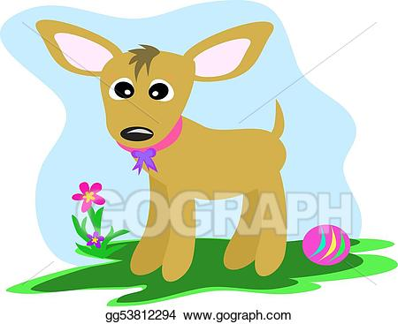 Vector art the dog. Chihuahua clipart chibi