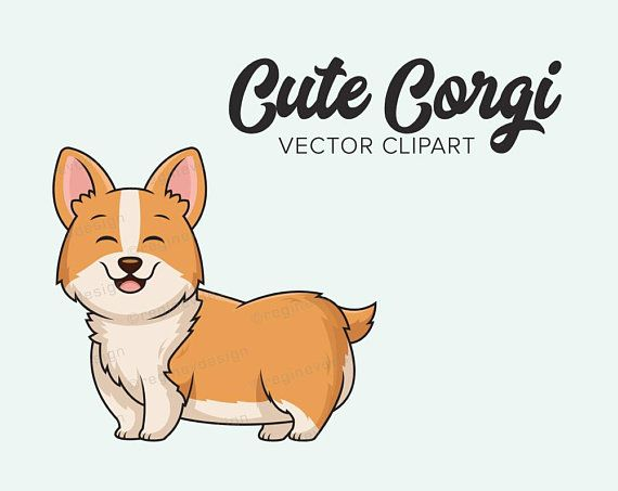 Chihuahua clipart chibi. Cute corgi vector clip