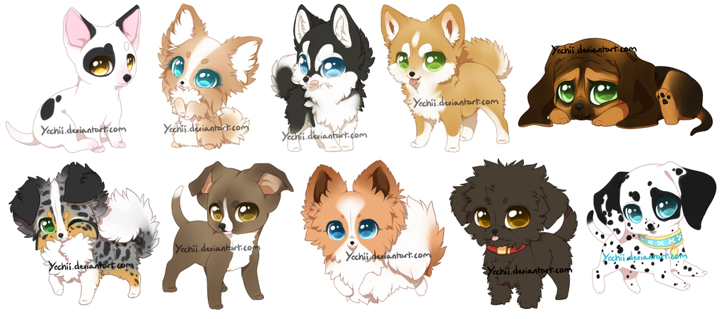 Dogs by yechii on. Chihuahua clipart chibi