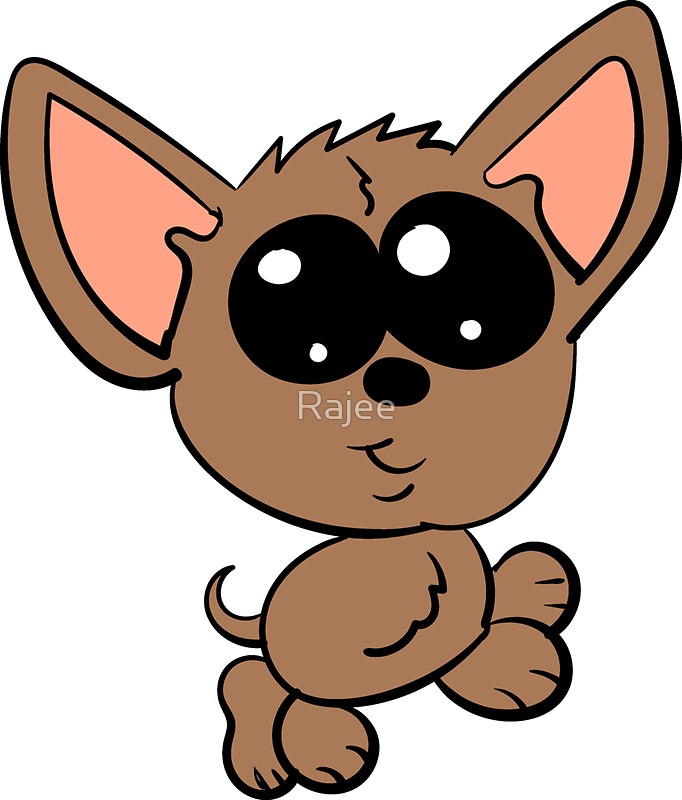 Chihuahua clipart chibi. Stickers by rajee redbubble