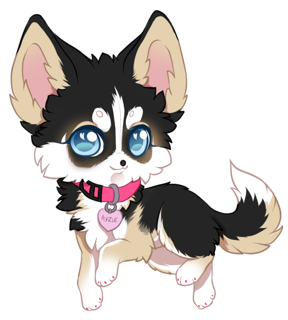 Ayzie commission by yechii. Chihuahua clipart chibi