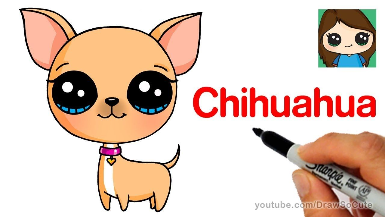 Chihuahua clipart chibi. How to draw a