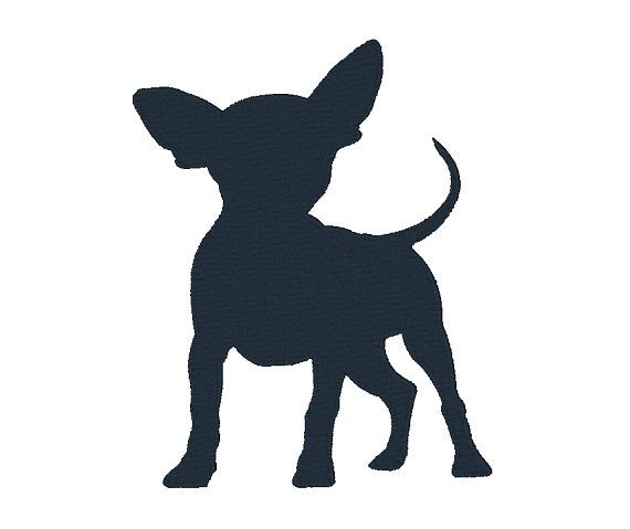 Machine embroidery design dog. Chihuahua clipart chihuahua silhouette