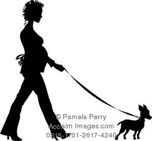 Chihuahua clipart chihuahua silhouette. Clip art illustration of