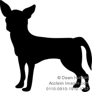 Chihuahua clipart chihuahua silhouette. Of a dog illustration