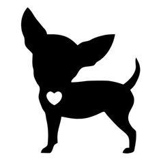 Bing images pinteres love. Chihuahua clipart chihuahua silhouette