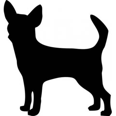 Art at getdrawings com. Chihuahua clipart chihuahua silhouette