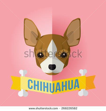 Chihuahua clipart face. Stock vectors vector clip