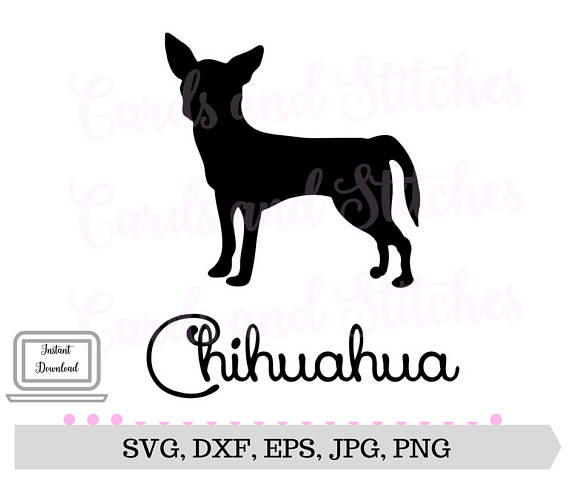 Chihuahua clipart file. Svg dog breed cricut