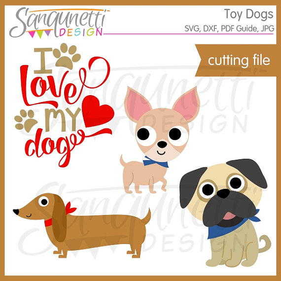 Dog svg toy dachshund. Chihuahua clipart file