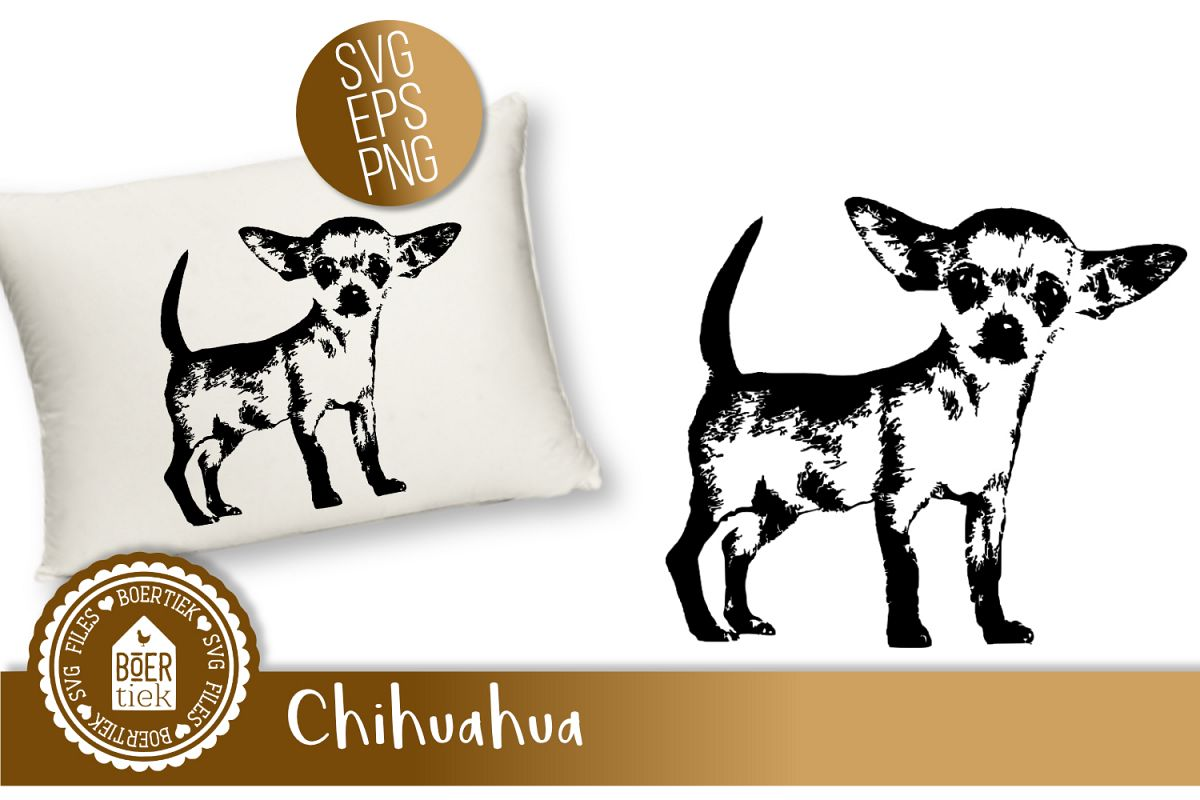 Chihuahua clipart file. Svg cutting
