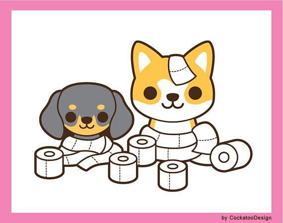 Dog clip art cute. Chihuahua clipart kawaii