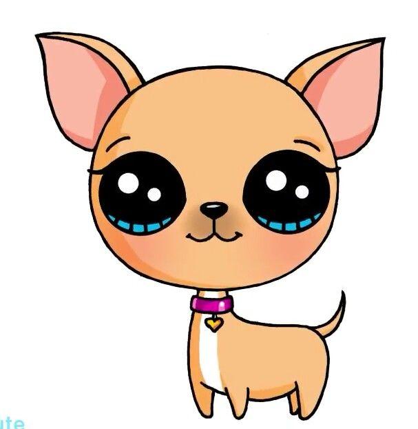 Chihuahua clipart kawaii. Draw so cute pinterest