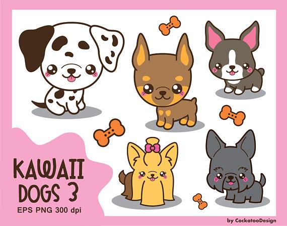 Chihuahua clipart kawaii. Dog clip art cute