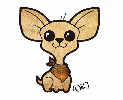 Style by wiiz kun. Chihuahua clipart kawaii