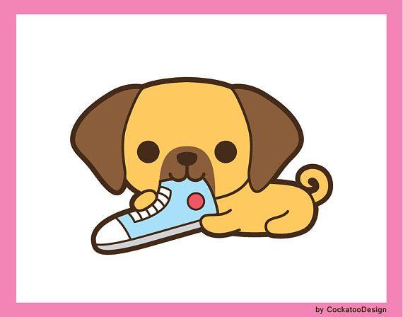 Kawaii clipart puppy. Dog clip art cute