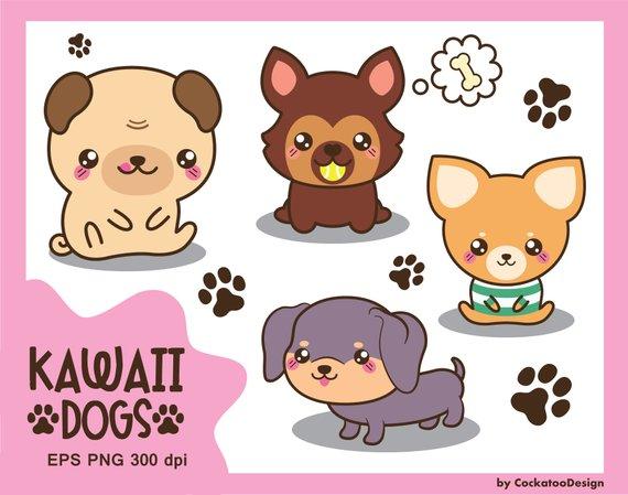 Chihuahua clipart kawaii. Dog cute breeds