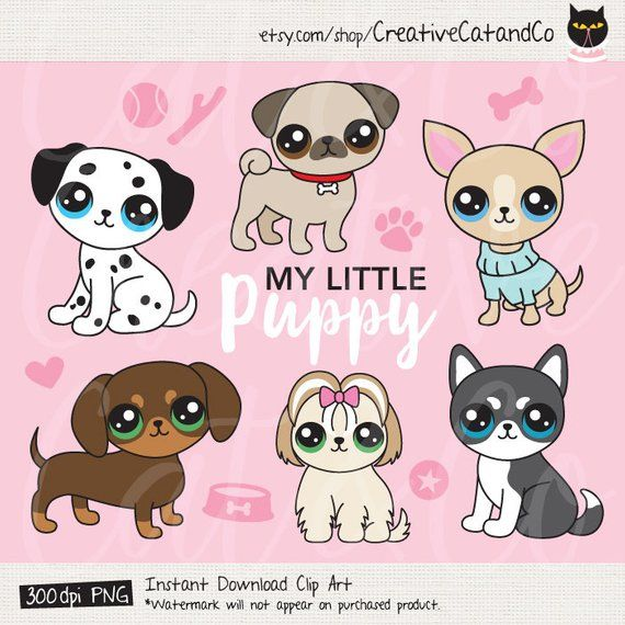 Dog breed clip art. Dalmatian clipart small puppy