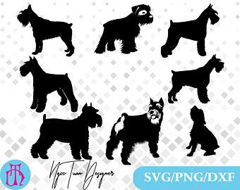 Svgpngdxf for svgpngdxfschnauzer designprintsilhouette. Chihuahua clipart schnauzer
