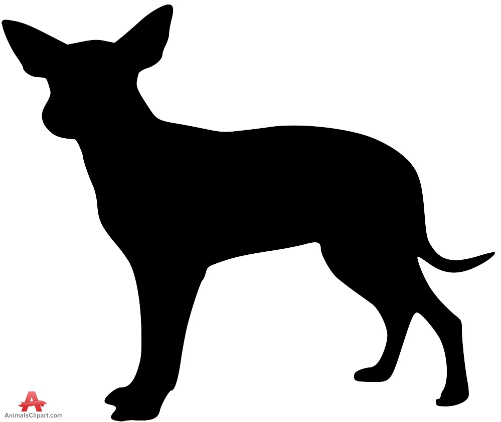 Dog silhouette at getdrawings. Chihuahua clipart small animal