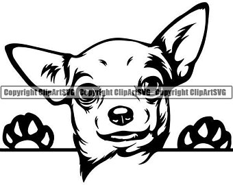 Etsy . Chihuahua clipart svg