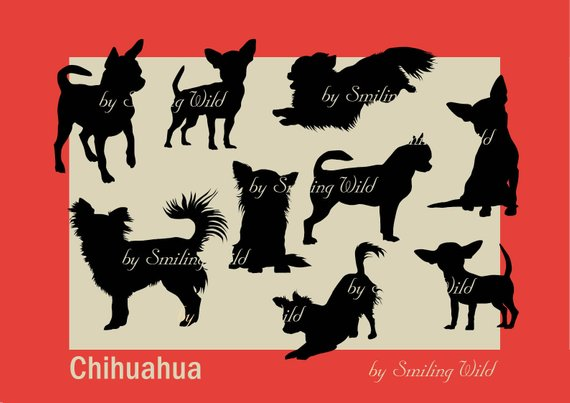 Silhouette png cut file. Chihuahua clipart svg