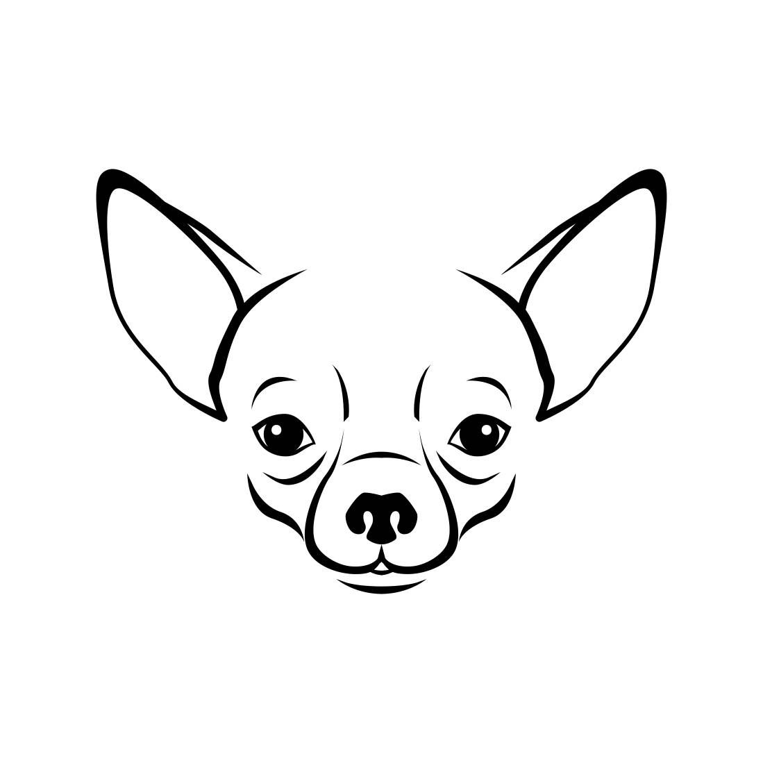 Chihuahua clipart svg. Dog head graphics dxf