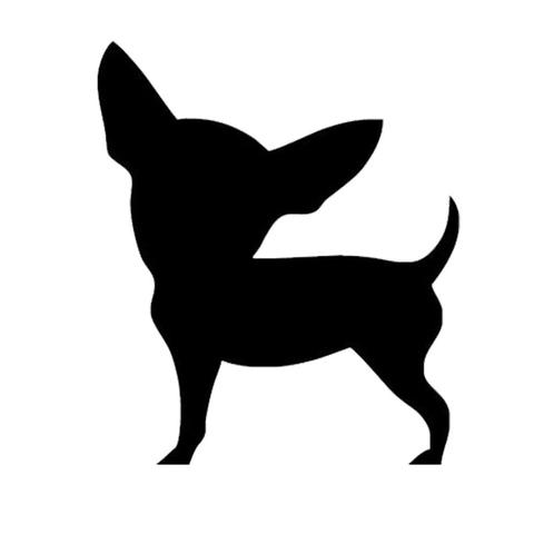 Chihuahua clipart teacup chihuahua. Dog silhouette at getdrawings