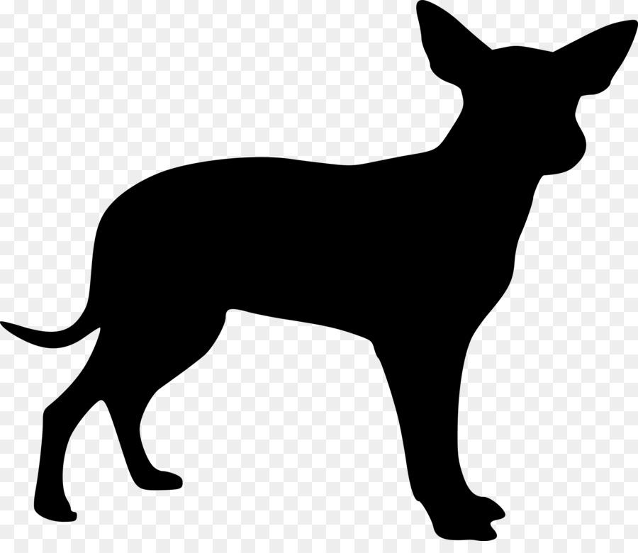 Cat and cartoon puppy. Chihuahua clipart tiny dog