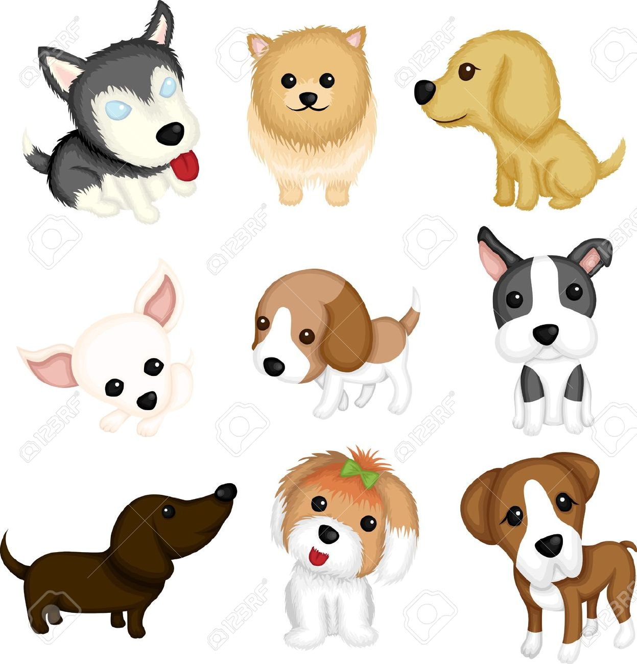 Chihuahua clipart vector. Cute pencil and in