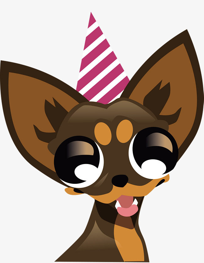 Chihuahua clipart vector. A with big eyes