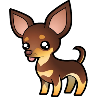 Image of stock clip. Chihuahua clipart vector