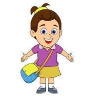 Child clip art image. Bag clipart kid clipart