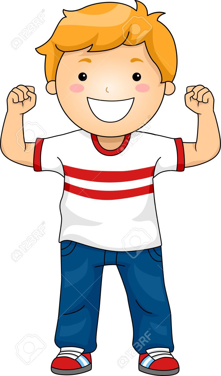 Strong child pictures clip. Health clipart boy