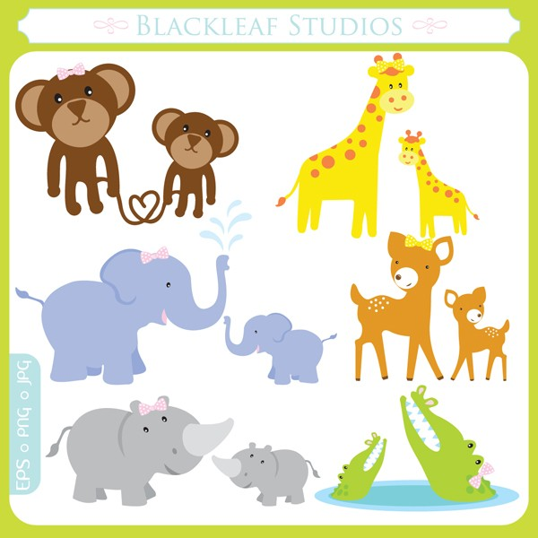 Mom and baby . Child clipart animal