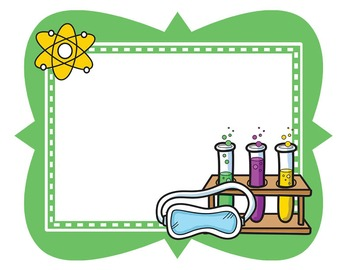 Kids borders set by. Clipart frames science