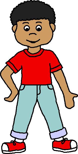 Clip art kids color. A clipart boy