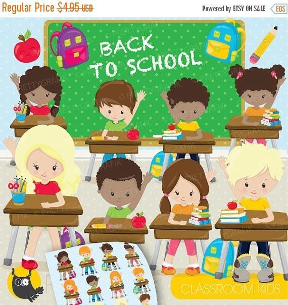 Children clipart classroom.  off sale kids