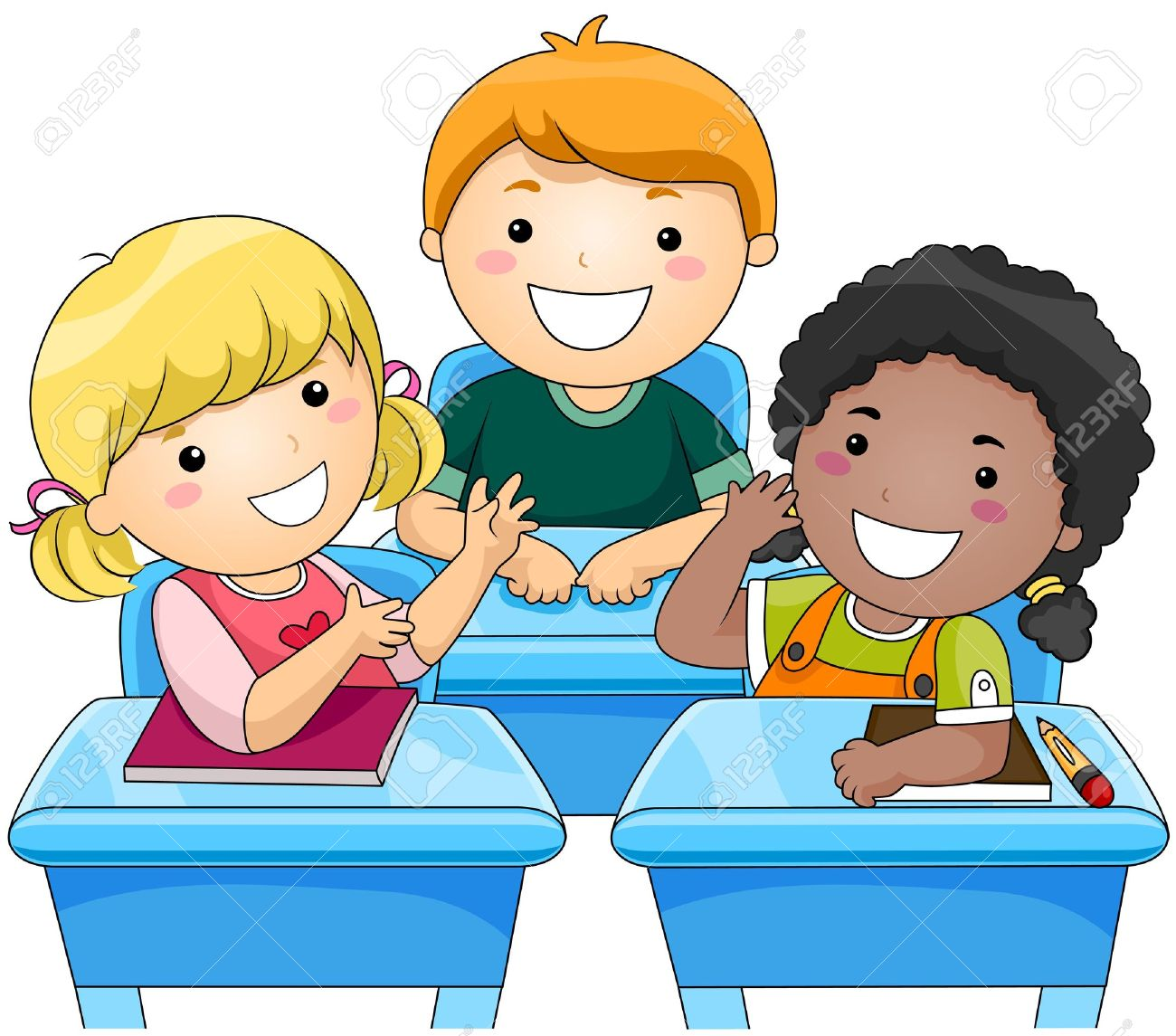 collection of talking. Children clipart classroom