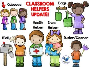 Children clipart classroom. Helper kids jobs clip