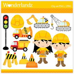 Children at play clip. Child clipart construction