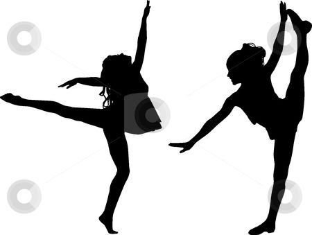 Dancer clipart preschool dance. Free printable kids silouttes