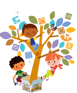 Mixed age groups in. Storytime clipart spring