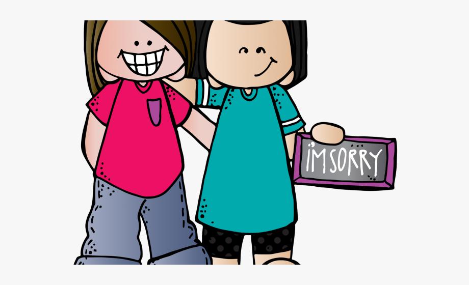 Friends forgiving for kids. Children clipart forgiveness