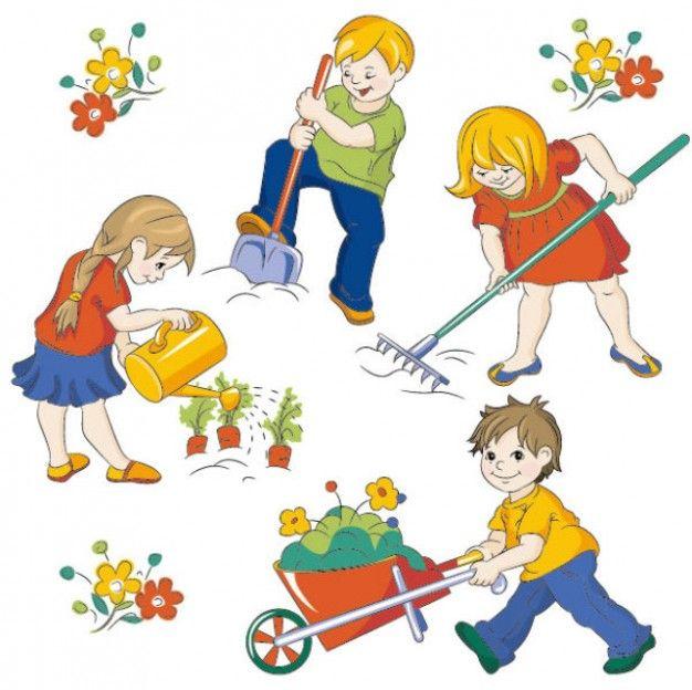 Http static freepik com. Children clipart garden